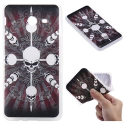 Compass Skulls 3D Relief Matte Soft TPU Back Cover for Samsung Galaxy J5 2017 US Edition