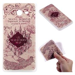 Castle The Marauders Map 3D Relief Matte Soft TPU Back Cover for Samsung Galaxy J5 2017 US Edition