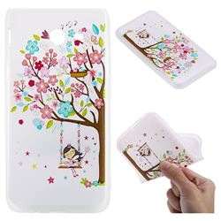 Tree and Girl 3D Relief Matte Soft TPU Back Cover for Samsung Galaxy J5 2017 US Edition