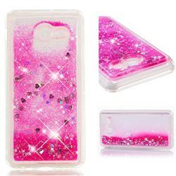 Dynamic Liquid Glitter Quicksand Sequins TPU Phone Case for Samsung Galaxy J5 2017 US Edition - Rose