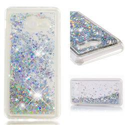 Dynamic Liquid Glitter Quicksand Sequins TPU Phone Case for Samsung Galaxy J5 2017 US Edition - Silver