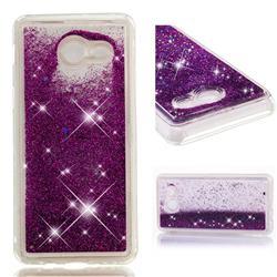 Dynamic Liquid Glitter Quicksand Sequins TPU Phone Case for Samsung Galaxy J5 2017 US Edition - Purple