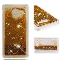Dynamic Liquid Glitter Quicksand Sequins TPU Phone Case for Samsung Galaxy J5 2017 US Edition - Golden
