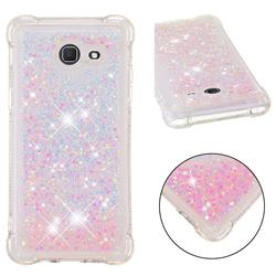 Dynamic Liquid Glitter Sand Quicksand TPU Case for Samsung Galaxy J5 2017 US Edition - Silver Powder Star