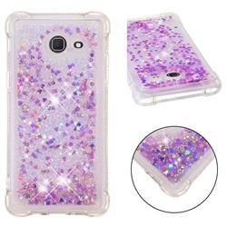 Dynamic Liquid Glitter Sand Quicksand Star TPU Case for Samsung Galaxy J5 2017 US Edition - Rose