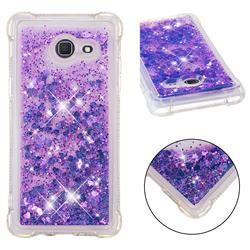 Dynamic Liquid Glitter Sand Quicksand Star TPU Case for Samsung Galaxy J5 2017 US Edition - Purple