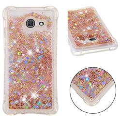 Dynamic Liquid Glitter Sand Quicksand Star TPU Case for Samsung Galaxy J5 2017 US Edition - Diamond Gold