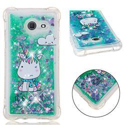 Tiny Unicorn Dynamic Liquid Glitter Sand Quicksand Star TPU Case for Samsung Galaxy J5 2017 US Edition
