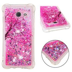 Pink Cherry Blossom Dynamic Liquid Glitter Sand Quicksand Star TPU Case for Samsung Galaxy J5 2017 US Edition