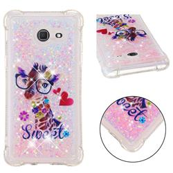 Sweet Deer Dynamic Liquid Glitter Sand Quicksand Star TPU Case for Samsung Galaxy J5 2017 US Edition