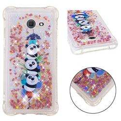 Three Pandas Dynamic Liquid Glitter Sand Quicksand Star TPU Case for Samsung Galaxy J5 2017 US Edition