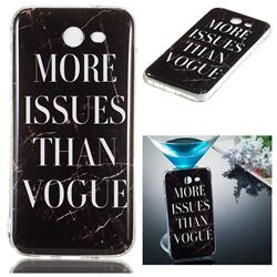 Stylish Black Soft TPU Marble Pattern Phone Case for Samsung Galaxy J5 2017 US Edition
