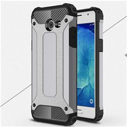 King Kong Armor Premium Shockproof Dual Layer Rugged Hard Cover for Samsung Galaxy J5 2017 US Edition - Silver Grey