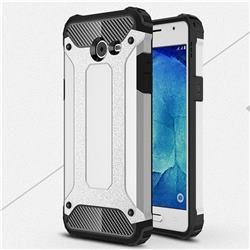 King Kong Armor Premium Shockproof Dual Layer Rugged Hard Cover for Samsung Galaxy J5 2017 US Edition - Technology Silver