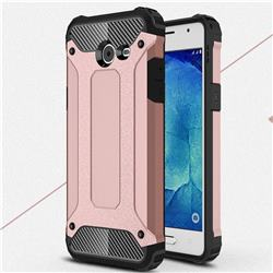 King Kong Armor Premium Shockproof Dual Layer Rugged Hard Cover for Samsung Galaxy J5 2017 US Edition - Rose Gold