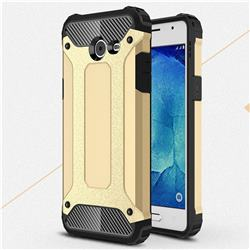 King Kong Armor Premium Shockproof Dual Layer Rugged Hard Cover for Samsung Galaxy J5 2017 US Edition - Champagne Gold