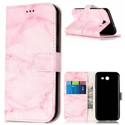 Pink Marble PU Leather Wallet Case for Samsung Galaxy J5 2017 J5 US Edition