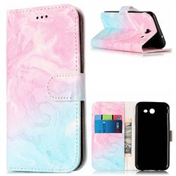 Pink Green Marble PU Leather Wallet Case for Samsung Galaxy J5 2017 J5 US Edition