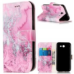 Pink Seawater PU Leather Wallet Case for Samsung Galaxy J5 2017 J5 US Edition