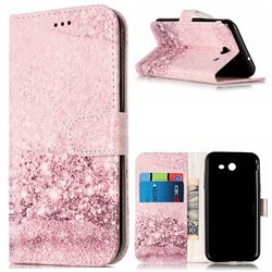 Glittering Rose Gold PU Leather Wallet Case for Samsung Galaxy J5 2017 J5 US Edition