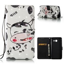 Milk Cow 3D Painted Leather Wallet Case for Samsung Galaxy J5 2017 J5 US Edition