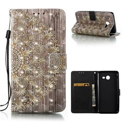 Golden Flower 3D Painted Leather Wallet Case for Samsung Galaxy J5 2017 J5 US Edition