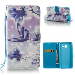 Butterfly Flower 3D Painted Leather Wallet Case for Samsung Galaxy J5 2017 J5 US Edition