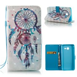 ColorDrops Wind Chimes 3D Painted Leather Wallet Case for Samsung Galaxy J5 2017 J5 US Edition
