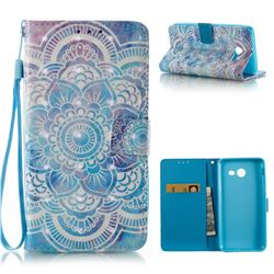 Mandala 3D Painted Leather Wallet Case for Samsung Galaxy J5 2017 J5 US Edition