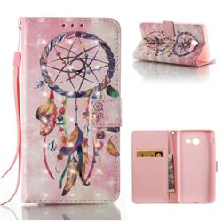 Bead Wind Chimes 3D Painted Leather Wallet Case for Samsung Galaxy J5 2017 J5 US Edition