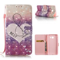 Heart Friend 3D Painted Leather Wallet Case for Samsung Galaxy J5 2017 J5 US Edition