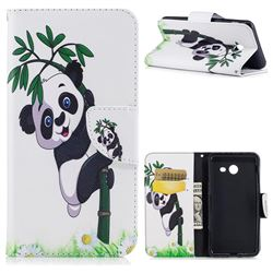 Bamboo Panda Leather Wallet Case for Samsung Galaxy J5 2017 J5 US Edition