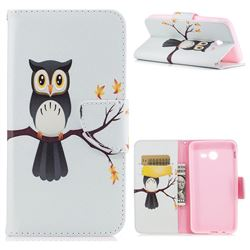 Owl on Tree Leather Wallet Case for Samsung Galaxy J5 2017 J5 US Edition