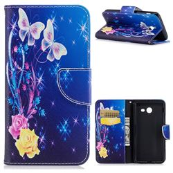 Yellow Flower Butterfly Leather Wallet Case for Samsung Galaxy J5 2017 J5 US Edition