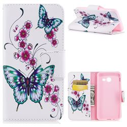 Peach Butterflies Leather Wallet Case for Samsung Galaxy J5 2017 J5 US Edition