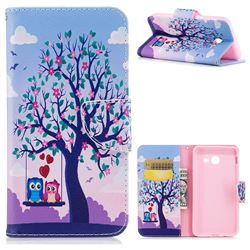 Tree and Owls Leather Wallet Case for Samsung Galaxy J5 2017 J5 US Edition
