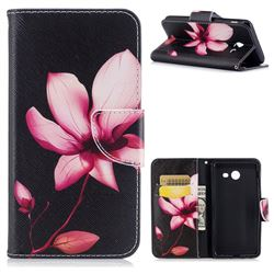 Lotus Flower Leather Wallet Case for Samsung Galaxy J5 2017 J5 US Edition