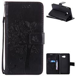 Embossing Butterfly Tree Leather Wallet Case for Samsung Galaxy J5 2017 J5 US Edition - Black