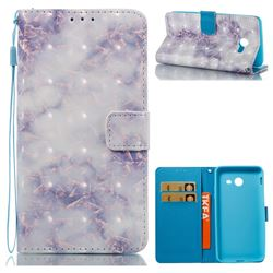 Green Gray Marble 3D Painted Leather Wallet Case for Samsung Galaxy J5 2017 US Edition