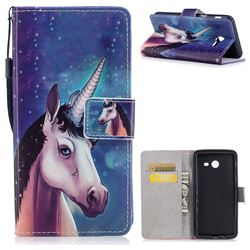 Blue Unicorn PU Leather Wallet Case for Samsung Galaxy J5 2017 US Edition