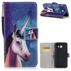 Blue Unicorn PU Leather Wallet Case for Samsung Galaxy J5 2017 US Edition