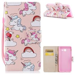 Rainbow Unicorn PU Leather Wallet Case for Samsung Galaxy J5 2017 US Edition