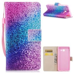 Rainbow Sand PU Leather Wallet Case for Samsung Galaxy J5 2017 US Edition