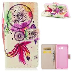 Feather Wind Chimes PU Leather Wallet Case for Samsung Galaxy J5 2017 US Edition
