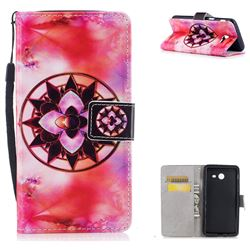 Red Mandala PU Leather Wallet Case for Samsung Galaxy J5 2017 US Edition