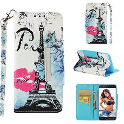 Lip Tower Big Metal Buckle PU Leather Wallet Phone Case for Samsung Galaxy J5 2017 US Edition