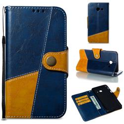 Retro Magnetic Stitching Wallet Flip Cover for Samsung Galaxy J5 2017 US Edition - Blue