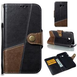 Retro Magnetic Stitching Wallet Flip Cover for Samsung Galaxy J5 2017 US Edition - Dark Gray