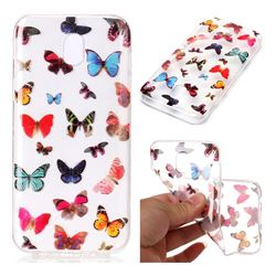 Colorful Butterfly Super Clear Soft TPU Back Cover for Samsung Galaxy J5 2017 J530 Eurasian