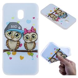 Couple Owls 3D Relief Matte Soft TPU Back Cover for Samsung Galaxy J5 2017 J530 Eurasian